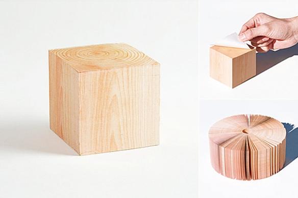 Hinoki Memo Cube by Mr_Design Inc.