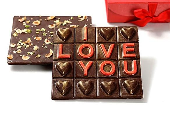 I Love You Chocolate Bark