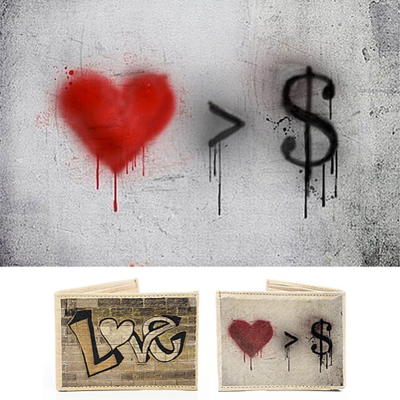Love Greater Than Money Wallet by Ayhan Kimsesizcan