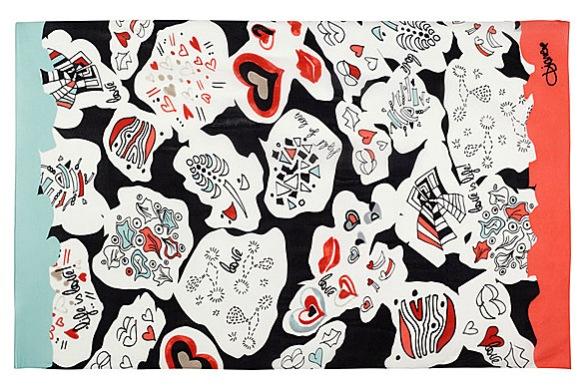 Valencia Printed Silk-Crepe Scarf