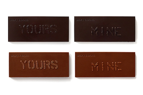Yours & Mine Chocolate Bar Sets by Mary and Matt, Chocolate Editions