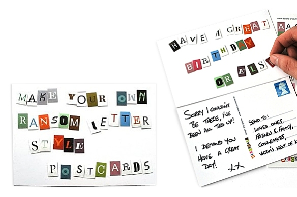 Blackmail -- Alphabet Stickers by Jörg Gätjens