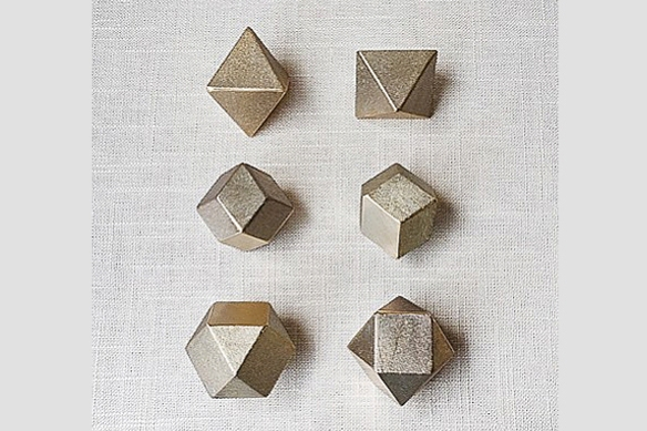 Polyhedron Paperweight by Oji Masanori and Futagami