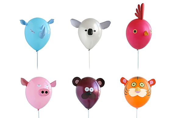 Air Heads Animal Balloon Set by Héctor Serrano