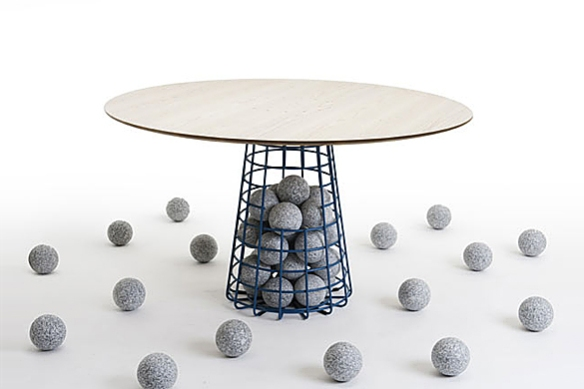 Gabion Table by Benjamin Hubert for De La Espada