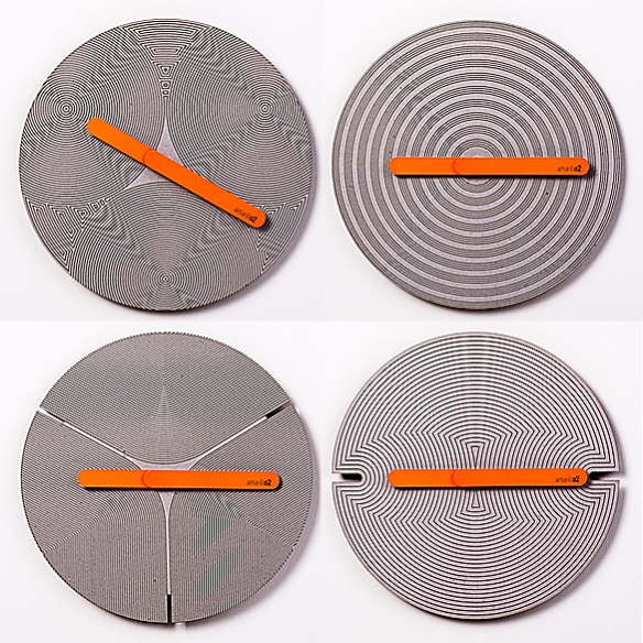 Amarillo2 Wall Clock by Tenndo Studio and 2y1dea