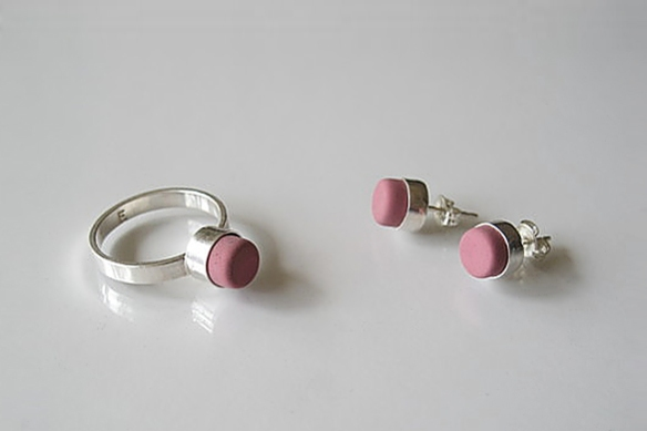 Eraser Jewelry by Beka Goedde and Rachel Ostrow