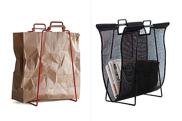 Newspaper Stand or Paperbag Holder by Woodnotes and Everyday Design