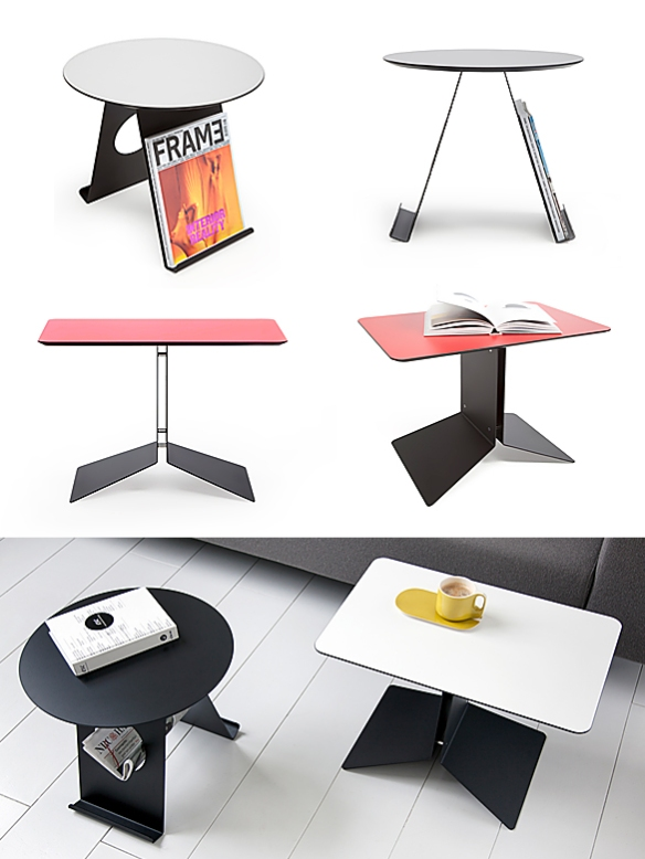 Pi and Up Side Tables by Marc van der Voorn for Odesi