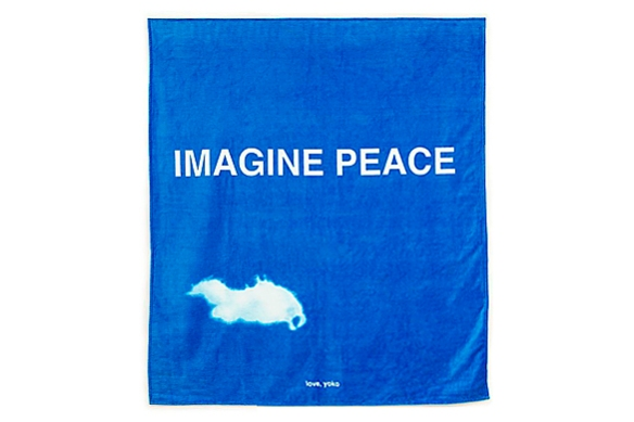 IMAGINE PEACE Towel by Yoko Ono