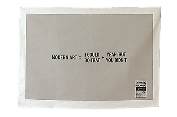 Modern Art Tea Towel by Craig Damrauer