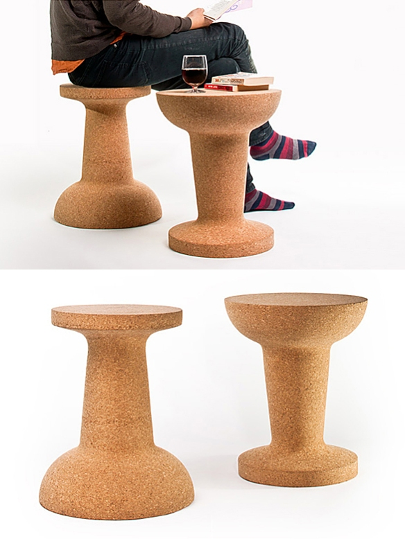 PUSHPIN CORK Stool or Side Table by Kenyon Yeh for Cooima