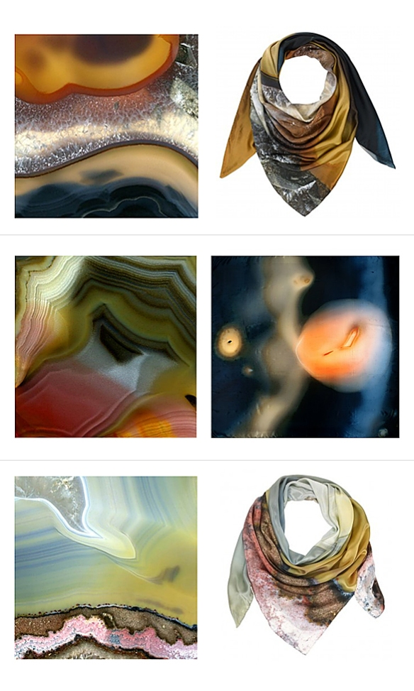 Agate Silk Scarves by Richard Weston