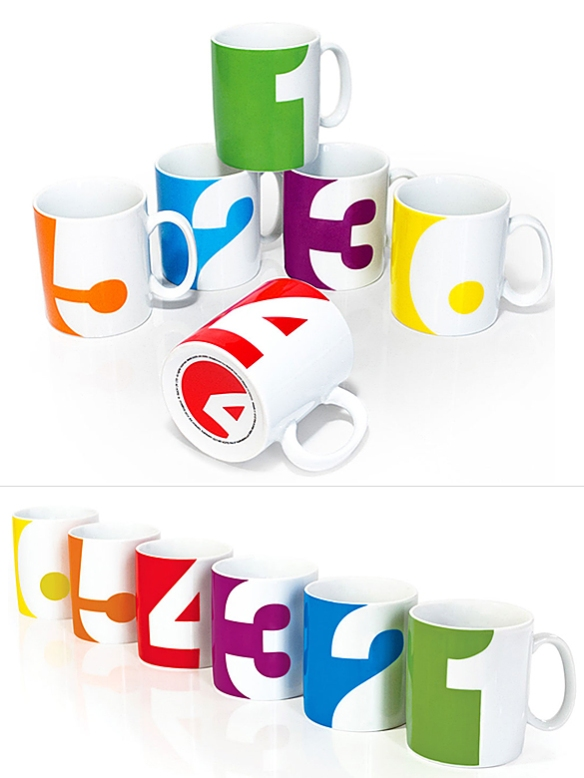 Numbers Mug Set by Suck UK