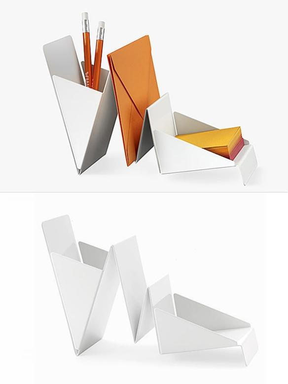 Office accessories moddea page 6 - Origami desk organizer ...