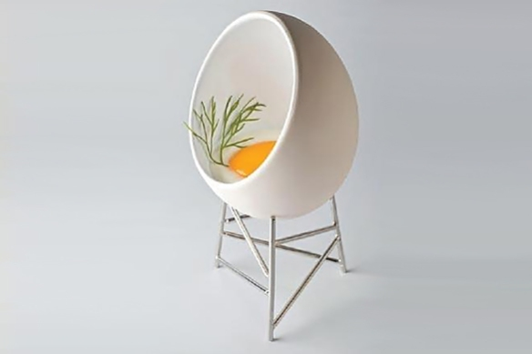 Le Nid Egg Ramekin by Christian Ghion for Alessi