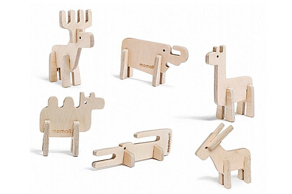 Enzo Wooden Animals by Momoll
