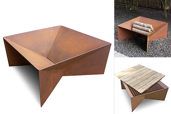 Geometric Firepit by Plodes Studio