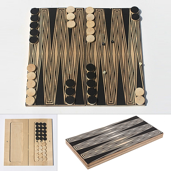 Travel Backgammon by Fredericks & Mae