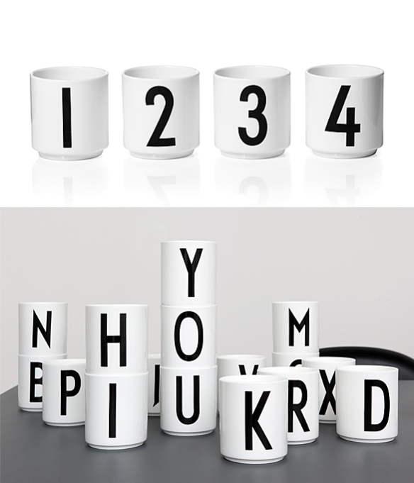 Arne Jacobsen Cups by Design Letters