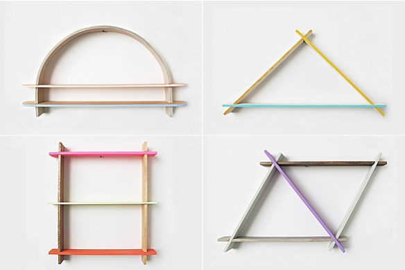 Geometric Shelves by Chiaozza