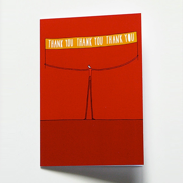 Thank You Card by Justine Beckett