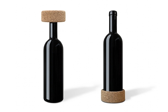 VINO Wine Coaster and Cork by Studio Macura
