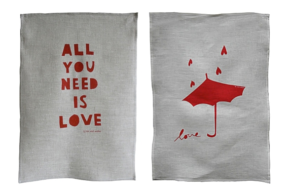 LOVE Tea Towels by Me and Amber | moddea