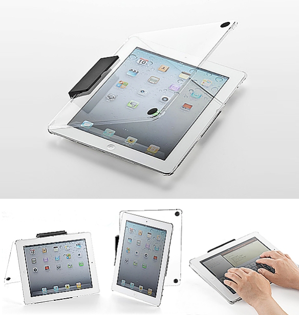 Clear Case and Stand for iPad by Sanwa Supply | moddea