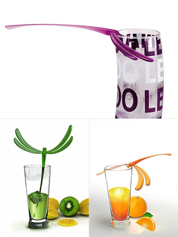 Dragonfly Cocktail Stirrers by Erwan Péron | moddea