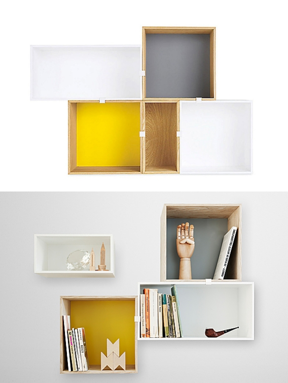 Mini Stacked Shelving System by JDS Architects | moddea