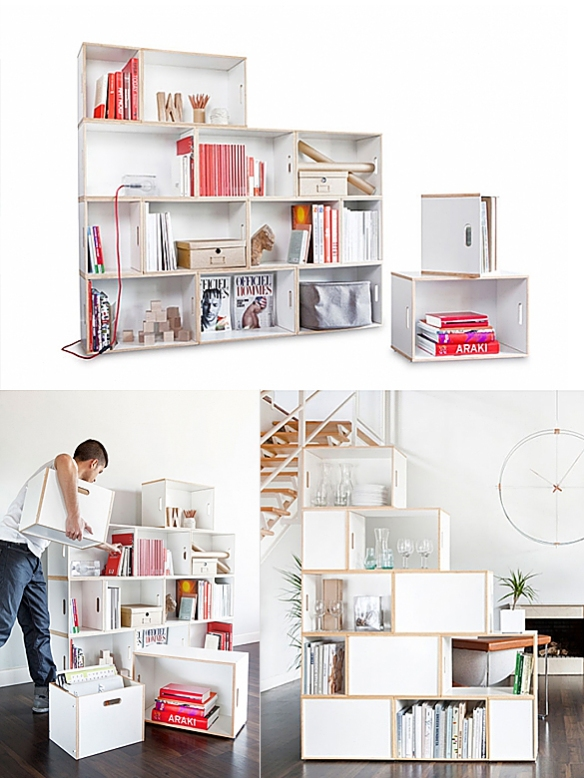 BrickBox Shelving System by Antxon Salvador and Roger Zanni | moddea