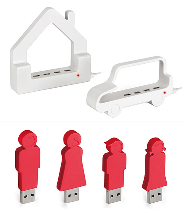 Cute USB Hubs and Sticks by Enrico Azzimonti | moddea