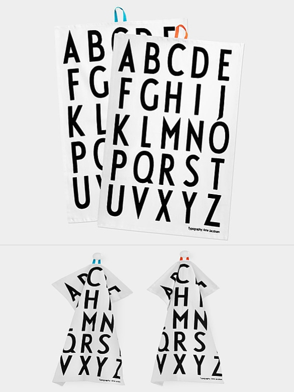 Arne Jacobsen Tea Towels by Design Letters | moddea