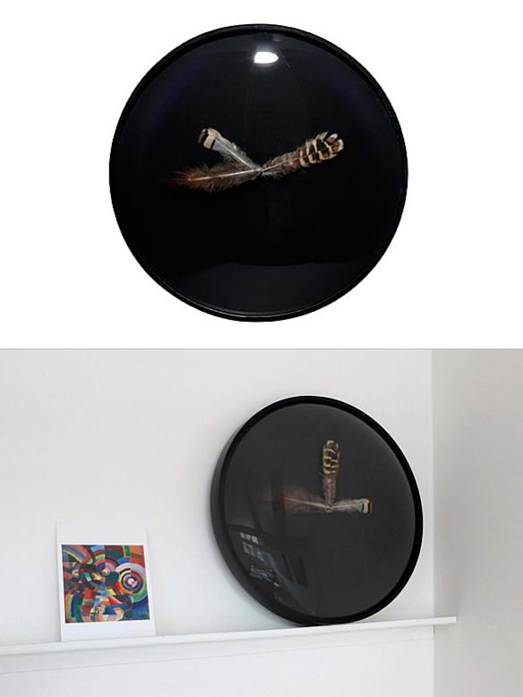 feather clock moddea. Black Bedroom Furniture Sets. Home Design Ideas