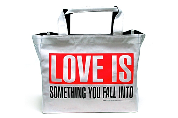 LOVE IS Tote by Barbara Kruger | moddea