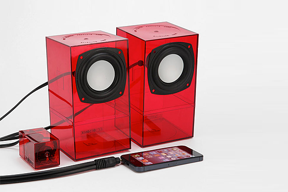 MidSonik Transparent Desktop Speakers