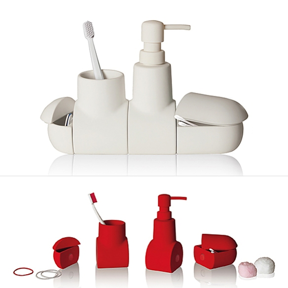 Submarino Bathroom Accessory Set by Héctor Serrano | moddea