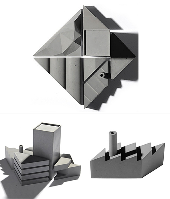 Tangram City Sculpture Puzzle by 22 Design Studio | moddea