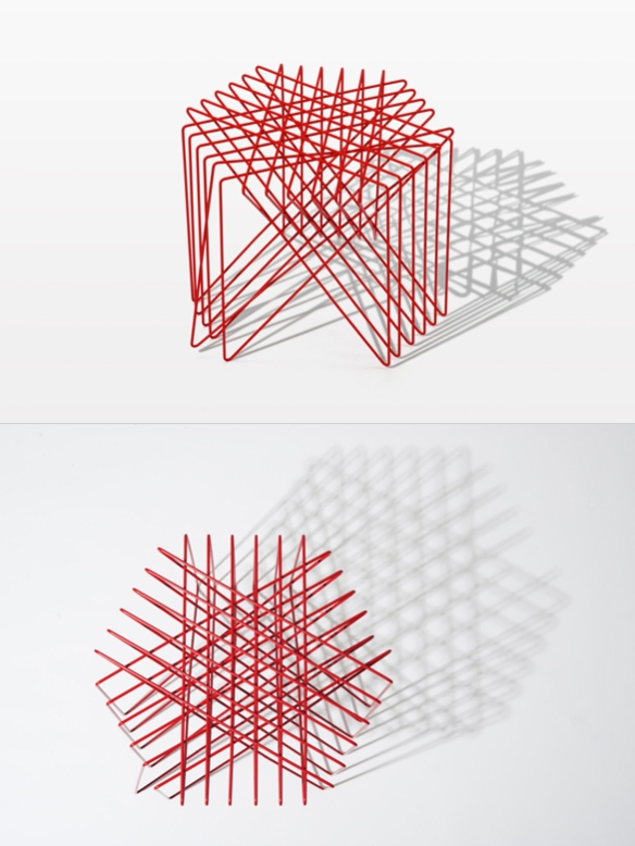 Kagome Stool by Shinn Asano | moddea