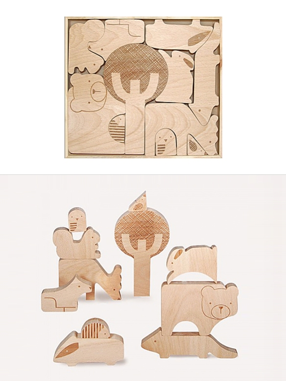 Forest Friends Puzzle by Petit Collage   moddea
