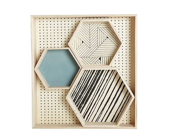Hexagonal Trays by House Doctor | moddea