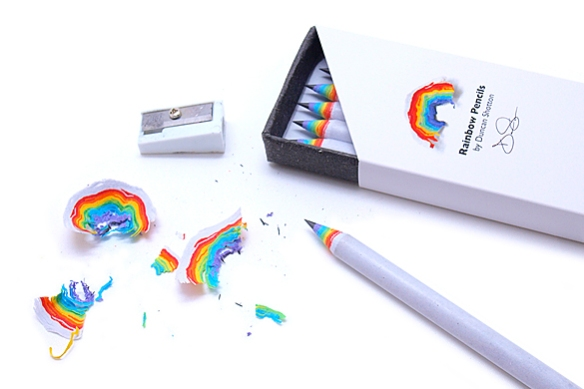 RAINBOW Pencils by Duncan Shotton | moddea