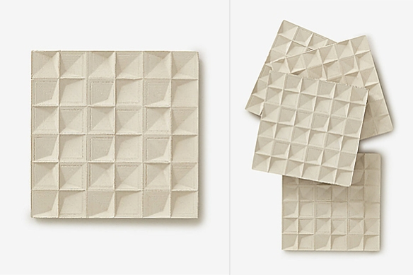 Faceted Concrete Coasters by Spacio Terreno | moddea