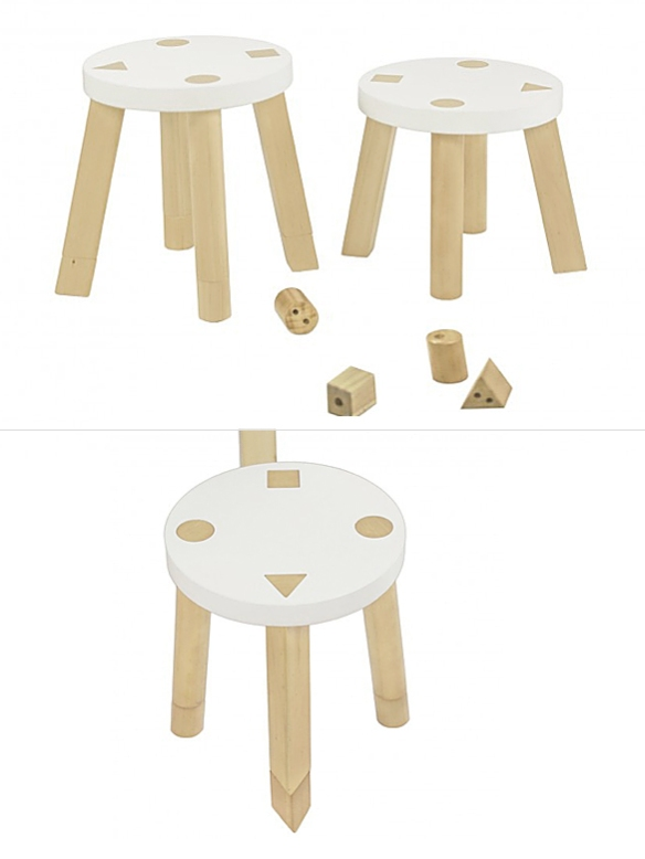Kaleidoscope Playset Stools by Babyletto | moddea