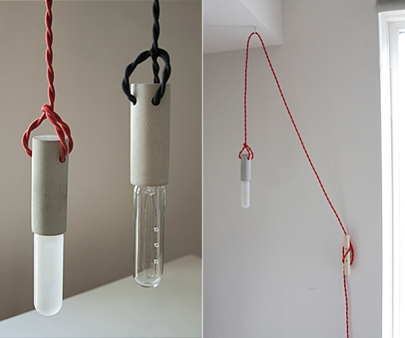 Concrete Pendant Light by wrk-shp | moddea