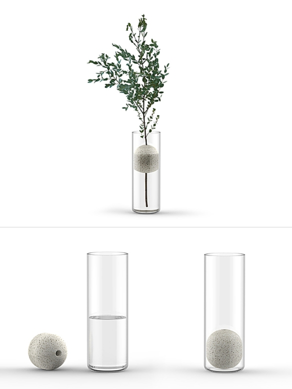 Lava Single Flower Vase by Studio Macura | moddea